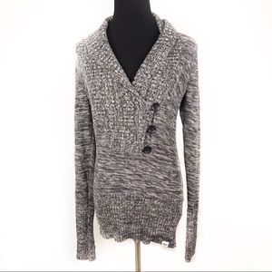 ROXY | Gray Knit Pullover Sweater Medium